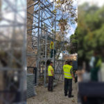 Τοποθέτηση ικριώματος στο Τέμενος «Γαζί Χασάν Πασά»